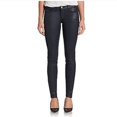 """Current/Elliott The Ankle Skinny Jeans Current/Elliott The Ankle Skinny Jeans, size 26, NWT, never been worn. Rise 8.5"""". Cotton/elastane. Coated, second-skin skinnies Current/Elliott Jeans Skinny"""