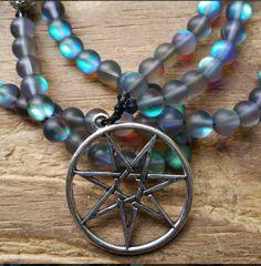 Elven Star, elven mala, elven prayer beads, pagan mala, pagan prayer beads, faery mala, faery prayer beads, wicca prayer beads, wicca mala by MagickAlive on Etsy