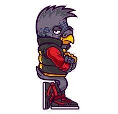 Dope Birds on Behance [vector character art ']