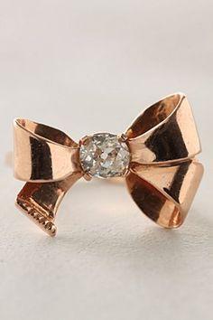 Diamond bow ring