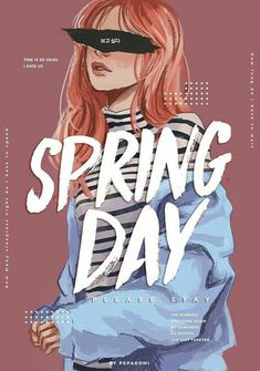 BTS / Spring Day / Fanart by pepakomi Wallpapers Ipad, Bts Girl, Bts Drawings, Pencil Drawings, Fan Art, Bts Lockscreen, Bts Fans, Kpop Fanart, Illustration Girl