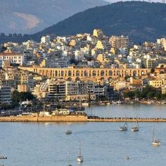 Kavala Greece - the place my mom was born The Neighbor, Parthenon, White Mountains, I Want To Travel, Thessaloniki, Best Cities, Greece Travel, Mykonos, Travel Pictures
