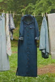 Vintage Denim Shirt  Dress