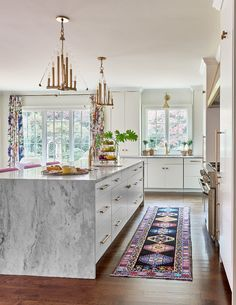From the Waterfall Island to the Scullery, This One Room Challenge Home is all Sunshine and Glamour Kitchen Reno, Home Decor Kitchen, New Kitchen, Home Kitchens, Kitchen Dining, Kitchen Remodel, Kitchen White, Awesome Kitchen, Kitchen Ideas