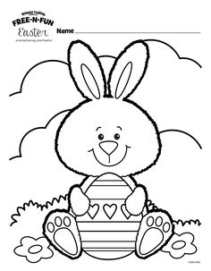 Free Printable Easter Coloring Pages are fun for all ages! Easter egg coloring pages, Easter bunny coloring pages, & more adorable Easter pictures to color! Easter Coloring Pages Printable, Easter Bunny Colouring, Easter Egg Coloring Pages, Easter Printables, Colouring Pages, Coloring Pages For Kids, Coloring Books, Free Coloring, Easter Art