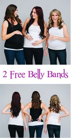 2 FREE Pregnancy Wardrobe Belly Bands! {just pay s/h} ~ I love this simple little trick for saving money on Pregnancy Clothing!