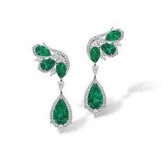 Agta Gems. Earrings featuring Emeralds
