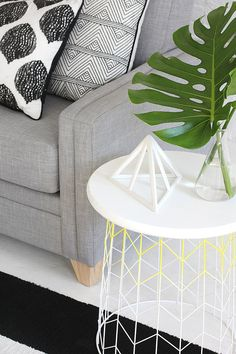 diy : table d'appoint grillage