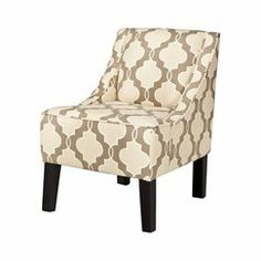 Living Room  Swoop Upholstered Accent Chair - Luca Geometric Stone