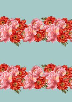 vintage floral pattern - by cardboardcities