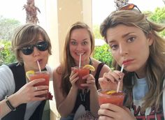 Youtube's three classiest ladies -- Hannah Hart, Mamrie Hart, and Grace Helbig.