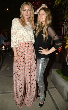 Kate Hudson and Fergie pose together at the Chrome Hearts & Kate Hudson Host Garden Party.