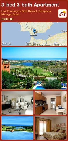 3-bed 3-bath Apartment in Los Flamingos Golf Resort, Estepona, Malaga, Spain ►€360,000 #PropertyForSaleInSpain
