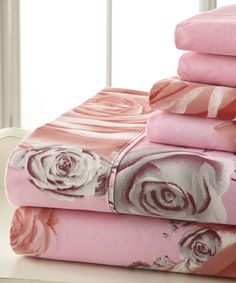 Pink & Gray Palazzo Home Luxurious Sheet Set by Spirit Linen #zulily #zulilyfinds