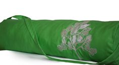 Lightweight Yoga Tote Bag Wide Opening Green Yoga by AmoreBeaute