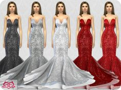 30 recolors  Found in TSR Category 'Sims 4 Female Formal'