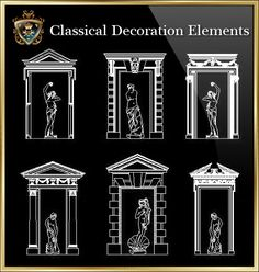 cad library autocad blocks drawings european classical elements blocks ideas for the. Black Bedroom Furniture Sets. Home Design Ideas