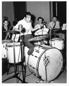 Gene Krupa Behind His Signature Slingerland Drum Kit