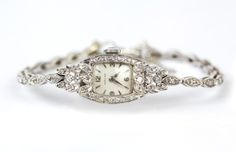 Stunning Vintage 14K Gold Watch with Diamonds