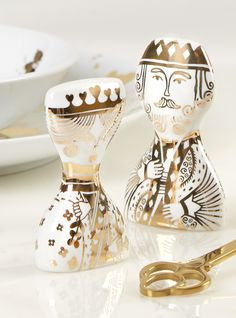 Jonathan Adler King and Queen Salt and Pepper Shakers