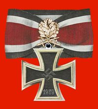 """The highest (regularly awarded) German decoration of WWII. Awarded to 27 men, including Erich Hartmann, Erwin Rommel, and Hans-Ulrich Rudel. Informally called """"The Diamonds"""" Military Awards, Erwin Rommel, War Medals, Germany Ww2, The Third Reich, World War One, German Army, Badges, Wwii"""