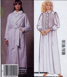 McCall's 3323 Laura Ashley Misses' Robe, Tie Belt, Nightgown Vintage 80s Sewing Pattern by McCalls Pattern Co http://www.amazon.com/dp/B007RPRUC2/ref=cm_sw_r_pi_dp_orhMvb01TETPA