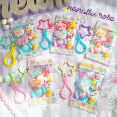 nanatsu rose -23ページ目 Kawaii Jewelry, Kawaii Accessories, Little Girl Jewelry, Girls Jewelry, Kawaii Crafts, Magical Jewelry, Cute Polymer Clay, Resin Crafts, Diy Cards
