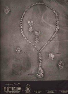 60's Harry Winston New York Jewellery Advertisement   1960 #HarryWinstonJewelery