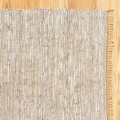 World Market- Reclaimed Leather and Jute Rug $59.99