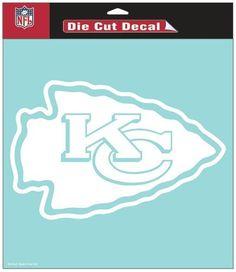 """Kansas City Chiefs Die-Cut Decal - 8""""x8"""" White"""