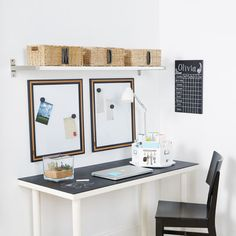 Initial Basket Cubbies - keep your desk neat and organized with a basket customized with your initial