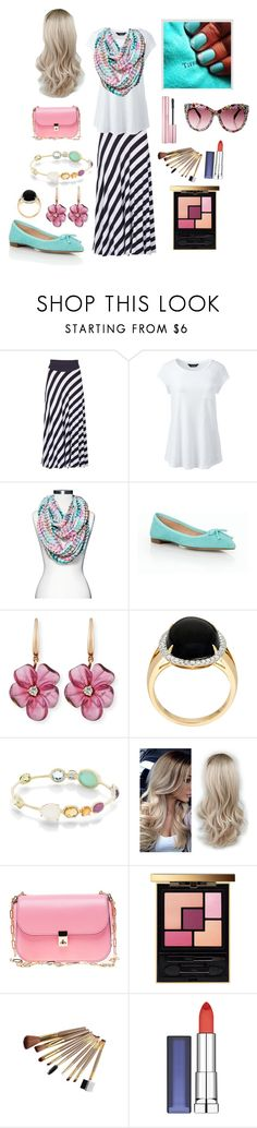 """""""Untitled #29"""" by megan-nicole-derksen ❤ liked on Polyvore featuring Izabel London, Lands' End, Mossimo Supply Co., Talbots, Rina Limor, Ippolita, Valentino, Yves Saint Laurent and Maybelline"""