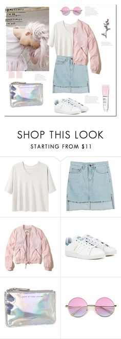 """""""[breathe]"""" by lauraaikoo ❤ liked on Polyvore featuring Alexander Yamaguchi, Hollister Co., adidas, Marc by Marc Jacobs and denim"""