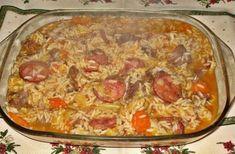 Rice Recipes, Cooking Recipes, Healthy Recipes, Portuguese Recipes, Hawaiian Pizza, I Foods, Macaroni And Cheese, Breakfast Recipes, Brunch