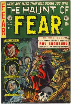 "HAUNT OF FEAR --. This is the actual of Haunt of Fear. This is an old genuine EC. ""There is nothing like owning. and buying comics. Vintage Comic Books, Vintage Comics, Comic Books Art, Comic Art, Book Art, Creepy Comics, Horror Comics, Horror Art, Horror Fiction"