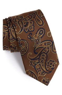 David Donahue Paisley Silk Tie | Nordstrom Paisley Tie, Paisley Dress, Designer Ties, Long Ties, Tie And Pocket Square, Suit And Tie, Modern Man, Fashion Plates, Silk Ties