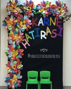 Diy And Crafts, Arts And Crafts, Paper Crafts, Diy For Kids, Gifts For Kids, Flower Crafts Kids, School Door Decorations, Birthday Party Centerpieces, Flower Rangoli