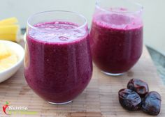 Fantastic healthy beetroot and blackberry dark side smoothie!