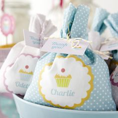 Celebrate and Bake party personalised favour bags