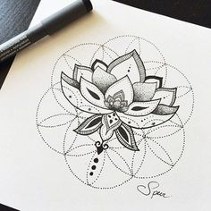 Intricate Lotus - The Breathtaking Detail In These Sacred Geometry Tattoos Will Blow Your Mind - Photos