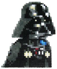 Darth Vader Star Wars hama perler beads by pixgraff Pearler Bead Patterns, Perler Patterns, Perle Hama Star Wars, Melty Bead Designs, Star Wars Crafts, Hama Beads Design, Peler Beads, Fusion Beads, Darth Vader