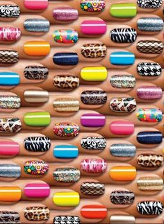50 Amazing Beginners Nail Art Designs! This is so cool,for all you nail lovers out there! Me included *winks*