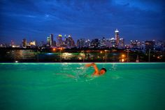 "Pool at one of the new Sofitel properties, Bangkok. ""Still the party city of Asia but for a more sophisticated crowd. Amazing Swimming Pools, Cool Pools, Awesome Pools, The Siam Hotel, Bangkok Travel, Bangkok Thailand, Sofitel Hotel, Travel Memories, Places To See"