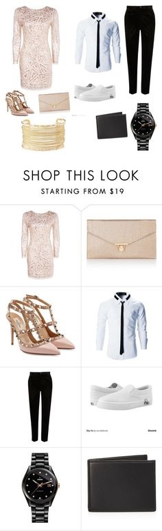 """Date night"" by ellasyn-murphy ❤ liked on Polyvore featuring Boohoo, Accessorize, Valentino, River Island, Zipz, Rado, The Men's Store and Charlotte Russe"