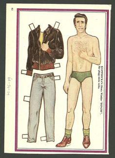 Henry Winkler Fonz Happy Days Vintage Paper Doll Sweden | eBay