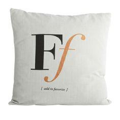 Pute F i gruppen Tekstil / Pledd & pynteputer / Pynteputer hos ROOM21.no (115191) House Doctor, Letter F, Throw Pillows, Shopping, Home, Concept, Slipcovers, House, Pillow Fight