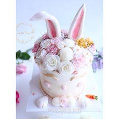 Elegant bunny cake