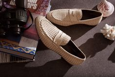 HILTON LOAFER IN WOVEN CALFSKIN LEATHER - SHOES MAN - ALBERTO GUARDIANI