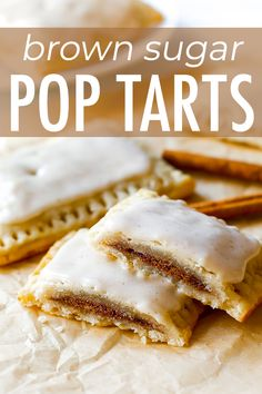 If you like pop-tarts, you will love my Homemade Frosted Brown Sugar Cinnamon Po. If you like pop-tarts, you will love my Homemade Frosted Brown Sugar Cinnamon Pop-Tarts. from scratch. Brown Sugar Cinnamon Poptarts, Cinnamon Pop Tart, Cinnamon Desserts, Brown Sugar Pop Tarts, Make Brown Sugar, Brown Sugar Frosting, Brown Sugar Oatmeal, Fudge Recipes, Baking Recipes