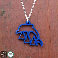 TriDelta Greek Licensed Dolphin Icon Necklace by TheMCL.co - Delta Delta Delta